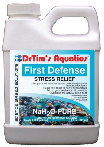 DrTim's Aquatics First Defense Stress Relief & Immune Support for Saltwater Aquariums, 6/4 oz