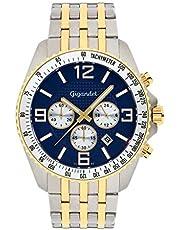 Gigandet Fast Track Men's Analogue Wrist Watch Quartz Chronograph Gold Blue G12-010