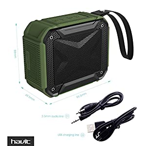 HAVIT Portable Wireless Bluetooth 4.1 Speaker, IPX5 Waterproof and Dustproof for Outdoors Sport or Shower, Rechargeable Battery (Black?)