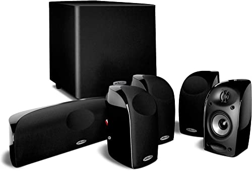 Polk Audio TL150 Speaker 5-pack, Black