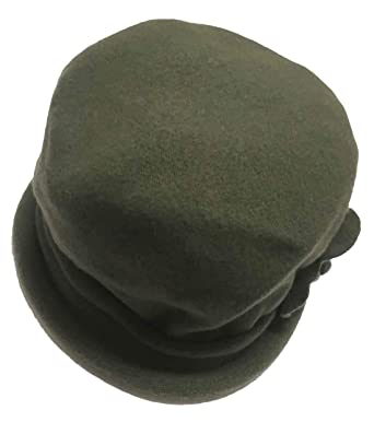 915abcc01e1e05 Parkhurst Women's Spencer Wool Cloche Hat (Cargo Green) at Amazon Women's  Clothing store: