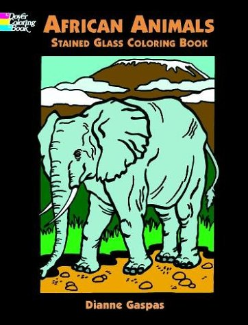 Search : African Animals Stained Glass Coloring Book