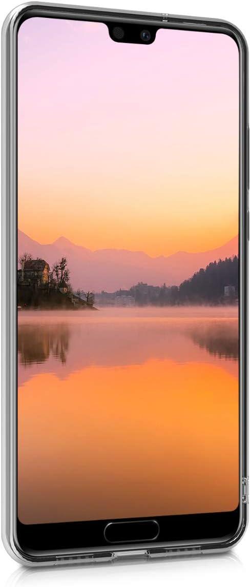 kwmobile Funda para Huawei P20 Carcasa Protectora de TPU con dise/ño de Varias Estrellas en Oro Rosa//Transparente