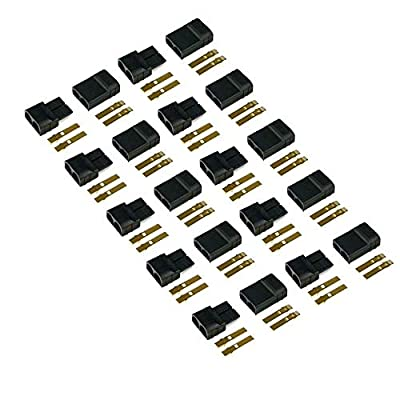 FLY RC 10 Pairs Traxxas TRX Plugs Lipo NiMh Brushless High-Current Connector ESC Battery RC Connector: Home Audio & Theater
