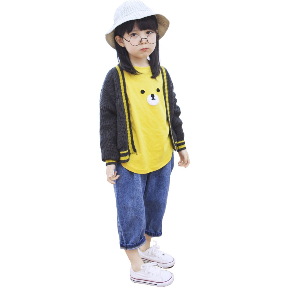 Y·J Back home Kids V Neck Cardigan Sweaters Button Down YJ171003004TS