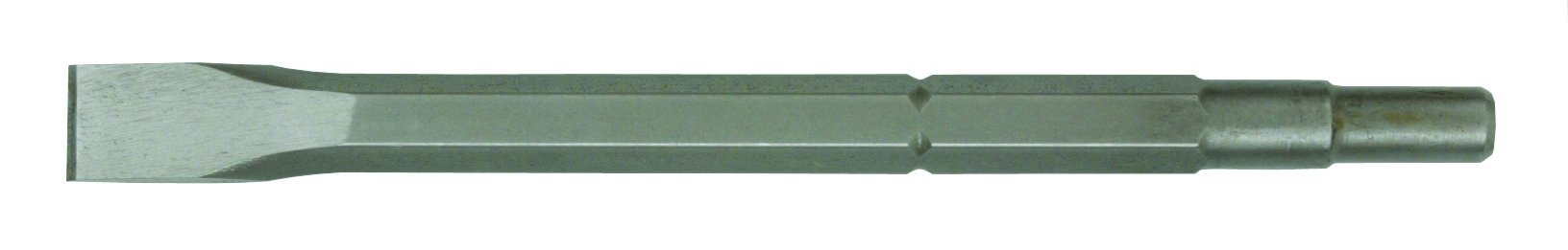 Hitachi 985381B Spline 3/4-Inch Hex 21/32-Inch Round Flat 1-Inch by 12-Inch Narrow Chisel, 25-Pack