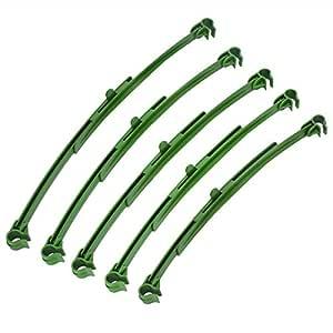 12pcs Tomate enrejado 11 mm estaca de jardín conectores Attach ...
