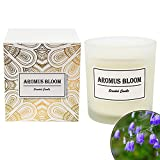 AromusBloom Scented Candle Gift with Natural Essential Oils, 100% Eco-Friendly Soy Wax Aromatherapy Candle, Gift Candles for Women, Bluebell