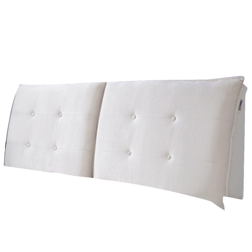 GXY Bett Soft Pack Leder Großen Rücken Ohne Bett Kissen Tatami Kissen Kissen (Farbe : Cremeweiß, größe : 120x10x60cm)