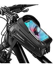 ROCKBROS Fietsframetas, Stuurtas, Waterdichte Gsm-tas met TPU-gevoelig Touchscreen voor Smartphones tot 6,8 inch Mountainbikes, Racefietsen, e-bikes
