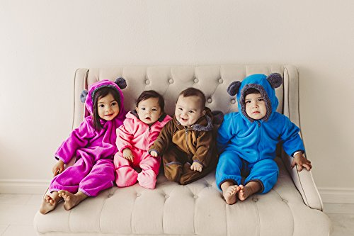 Cuddle Club Fleece Baby Bunting Bodysuit for Newborn to 4T - Infant Pajamas Winter Jacket Outerwear Coat Toddler Costume - coolthings.us