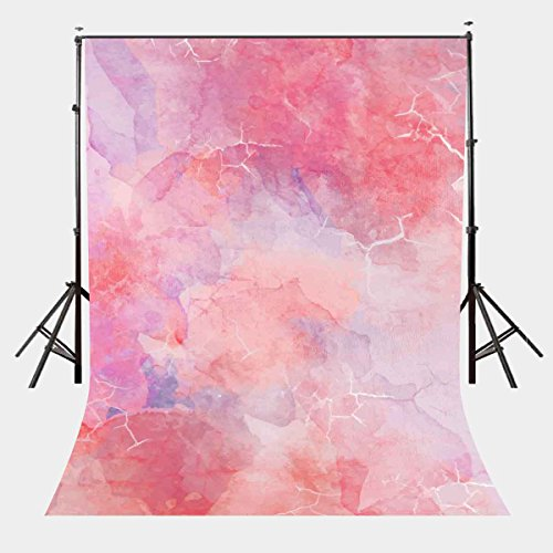 LYLYCTY 5X7ft Millennial Pink Marble Texture Pattern Studio Photography Backdrop Girl Children Party Props LYGE607 by LYLYCTY