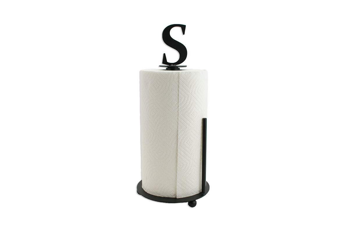 Monogram Paper Towel Holder - Farmhouse Kitchen Decor - Metal Paper Towel Holder - Kitchen Decor - Farmhouse Kitchen Decor - Standing Holder