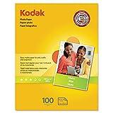 Kodak Photo Paper, Matte, 7 mil, 8-1/2 x 11, 100 Sheets/Pack