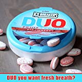Ice Breakers Sugar Free Duo Mints, Strawberry Fruit and Cool, 1.3 OZ, Pack of 8