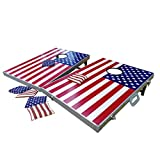 SPORTBEATS Cornhole Bean Bag Toss Game Set Tailgating Size - Superior Aluminum Frame By