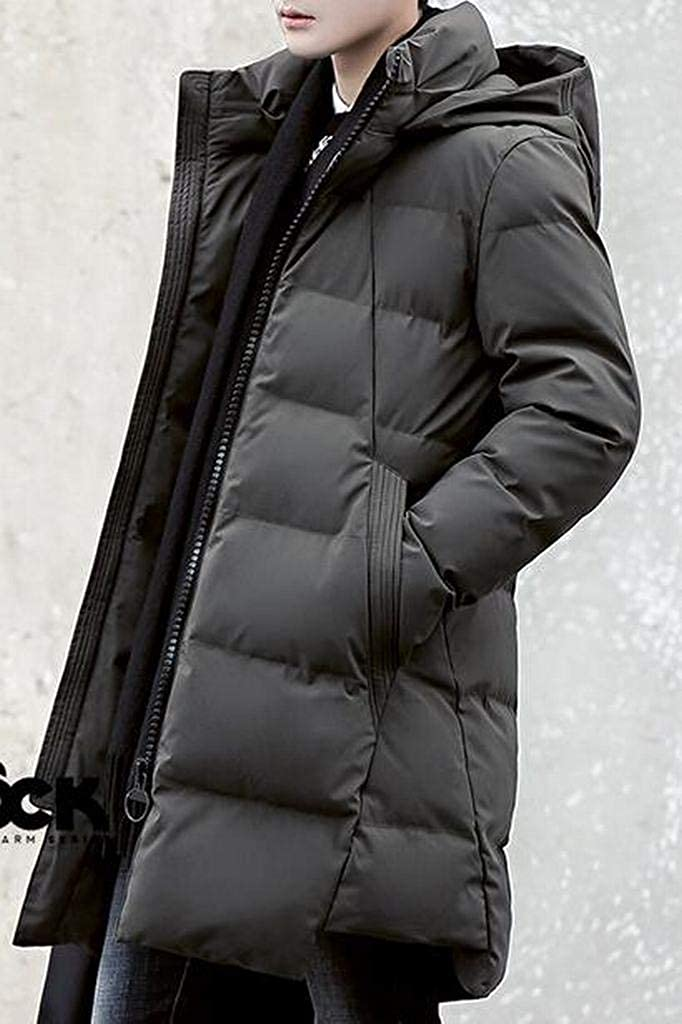 Jotebriyo Mens Turtle Neck Warm Winter Thicker Relaxed Fit Down Quilted Jacket Coat Parka