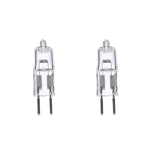 2 Pack 35 Watt 35W 12V 12 Volt G6.35 Bi-Pin JC Type Halogen Light Bulb GY6.35 by Bluex Bulbs