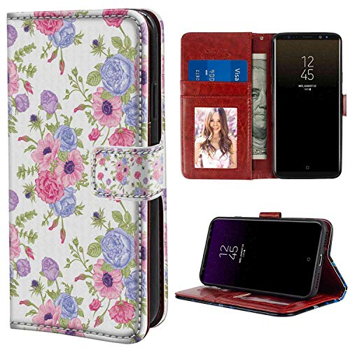 - Pastel Floral Arrangement Theme Bouquet of Colorful Flowers Shabby Chic Style Print Pink and Lavender Wristlet Wallet Case Compatible with Samsung Galaxy Note 8 (6.3in) with Magnetic Case