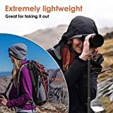 """Geekoto 58"""" Ultra Compact and Lightweight Aluminum Tripod with 360° Panorama Ball Head, Camera Tripod for DSLR, Monopod, Tripod for OSMO, Ideal for Vlog, Travel and Work"""