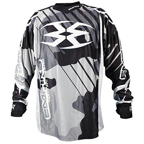 Empire 2016 Contact Zero F6 Paintball Jersey (Black/White, XX-Large)