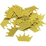 Crazy Night Gold Glitter Crown Diamond Ring Confettis Table Decorations Wedding Party Decoration 200 Pcs (Crown)