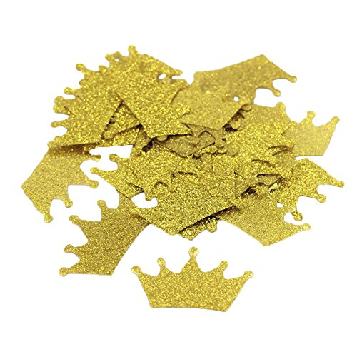 Crazy Night Gold Glitter Crown Diamond Ring Confettis Table Decorations Wedding Party Decoration 200PCS (Crown) -