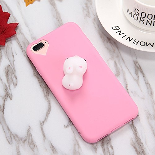 Mobiltelefonhülle - Für iPhone 7 Plus Magenta Hintergrund Lovely Little Rabbit Pattern Squeeze Relief Squishy Dropproof Schutzmaßnahmen zurück Fall Fall