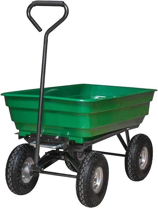LeMeiZhiJia – Carretilla de jardín, carro de jardín, carro de mano, función de inclinación, carro de transporte para jardín, obra, etc.: Amazon.es: Jardín