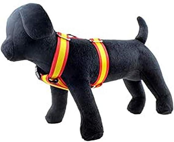 Arppe 196132520561 - Arnes para Perros Nylon Bandera, Rojo/Amarillo: Amazon.es: Productos para mascotas