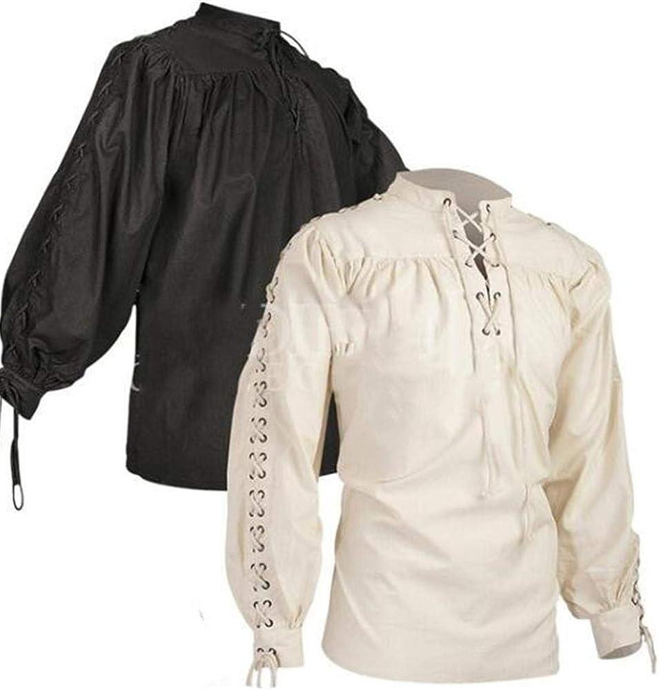 Mcaishen Trajes Medievales para Hombres Moda Collares De Pie ...