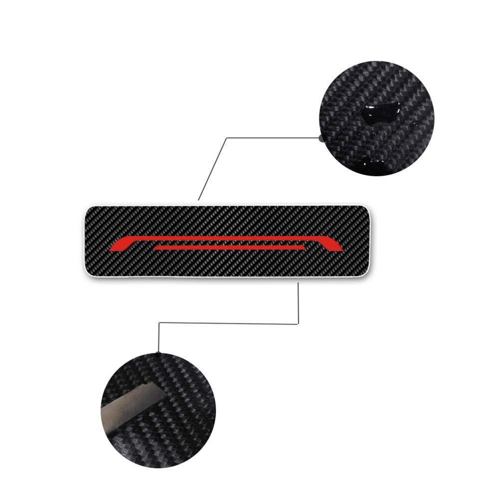 Battitacco Auto Esterno Batticalcagno per LEAF NV200 Combi Micra Note Pulsar Juke Qashqai X-Trail Navara 370Z GT-R Adesivi delle Soglie delle Porte in Fibra di Carbonio Rosso 4 pezzi