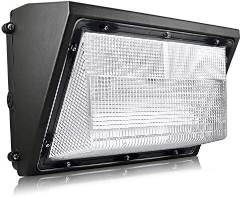 Luxrite Dusk to Dawn LED Wall Pack – 60W 5000K, 7085 Lumens, Commercial Outdoor Security Light Fixture, IP65 Waterproof, 120-277V, Dimmable Industrial Wall Light with Built in Photocell Sensor
