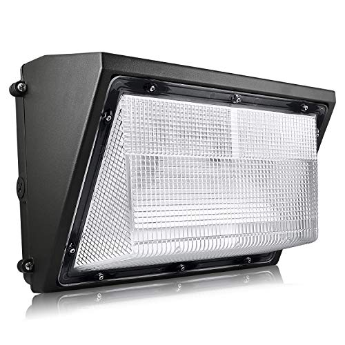 Luxrite 60W LED Wall Pack with Photocell Dusk to Dawn Sensor, 7085 Lumens, 250W HID/HPS Equivalent, 5000K Bright White, DOB, 120-277V, Dimmable, Commercial/Residential Outdoor Lighting, IP65 Rated