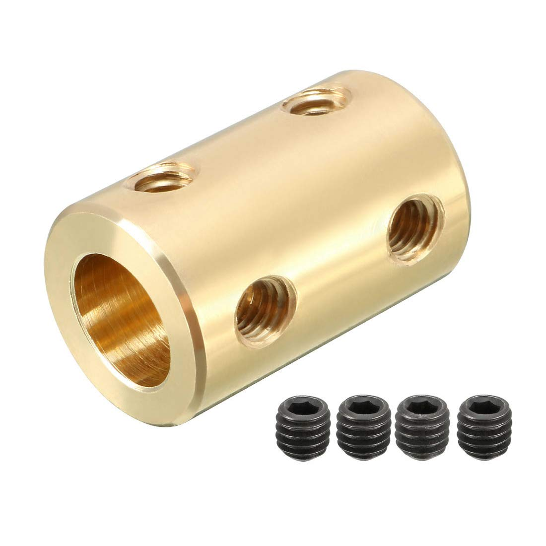 uxcell Shaft Coupling 8mm to 8mm Bore L22xD14 Robot Motor Wheel Rigid Coupler Connector