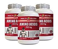 Muscle Building Pills for Men - Amino Acids 2200 Mg - Muscle Maker - l-Lysine Tablets - 3 Bottles 450 Tablets