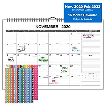 Julian Date Calendar 2022.2021 Desk Calendar 16 Months Wall Calendar With Julian Date Nov 2020 Feb 2022 Twin Wire Binding Large Ruled Block With To Do List Notes Thick Paper Perfect For Planning Organizing 17 X 12