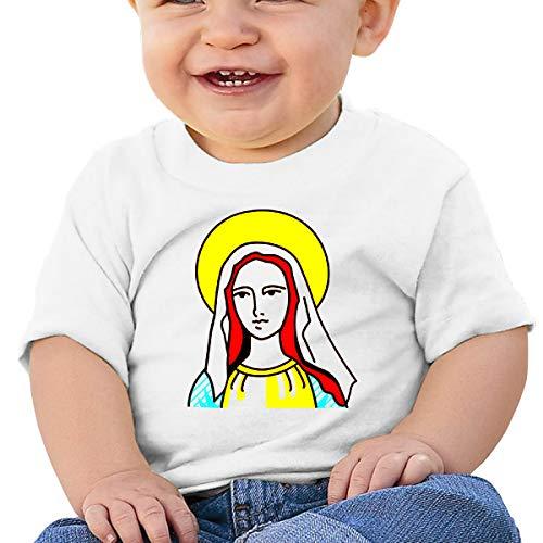 Saint Virgin Mary Religion Catholic2 Toddler Baby Girl Boy O Neck Short Sleeved T-Shirt Tops Tee Clothes White