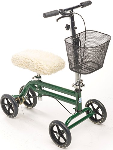 Steerable Knee Walker with Basket and Sheepette