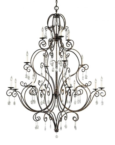 Mocha Bronze Finish Chandeliers - Feiss F2110/8+4+4MBZ Chateau 16-Light Multi-Tier Chandelier, Mocha Bronze