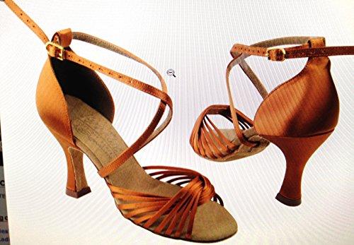 Scarpe Da Ballo Per Donna Ballroom Latino Salsa Tango Signature S1001 Satin Nero Satinato 3 Tacco