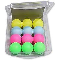 Ouken 1 Caja 40 mm Ping-Pong Bolas múltiples Color Mini Bolas plástico del Tenis de Tabla Bola (12pcs)