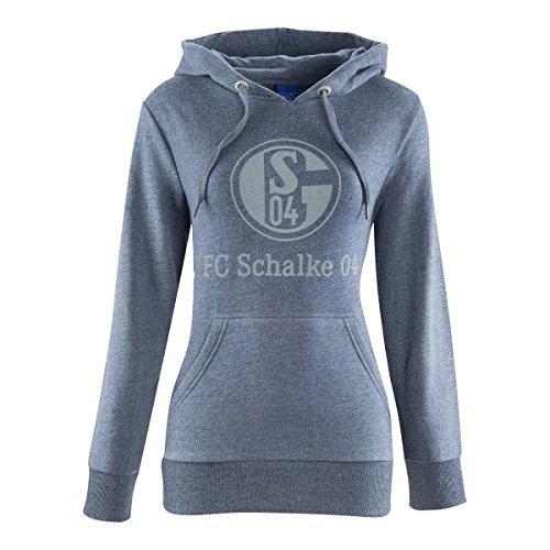 FC Schalke 04 FC Gelsenkirchen-Schalke 04 EV Herren T-Shirt Damen Basic Meliert Gr/ö/ße 2XL