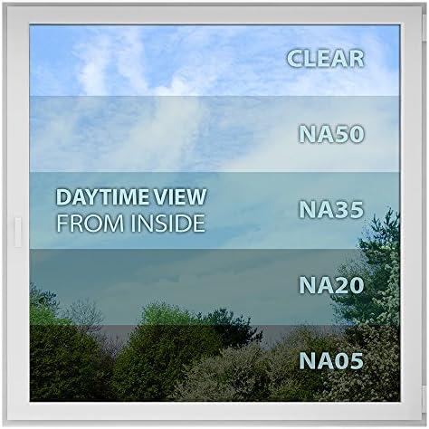BDF NA05 Window Film Privacy and Sun Control N05 - 36in X 24ft Black Very Dark