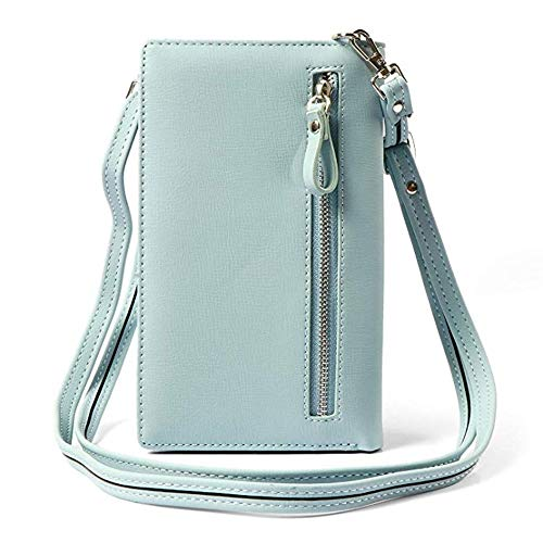 Girl Pockets Purse Cell Flower for Crossbody Bag Shoulder Phone Bag Roomy Green Small with Handbag Bag Leather Women Mini Wallet Strap Coin FqtHwTRw