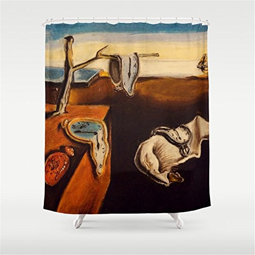 (Huisfa Salvador Dali - The Persistence of Memory Shower Curtain 72 x 72 inches)