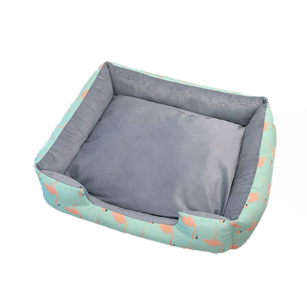 Small Rectangle Pet Dog Bed Lounge Sofa Padded Pet Bolster Bed Dog Kennel Mat Comfortable Pad for Pet Dog Bed for Crate Cat Beds Pet Supplies,S