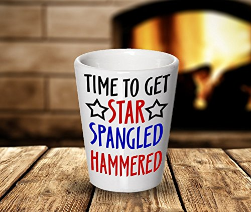Funny Shot Glasses Spangled Hammered product image