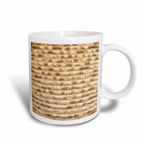 3dRose mug_112943_1 Matzah Bread Texture Photo-For Passover Pesach-Funny Jewish Humor-Humorous Matzo Judaism Food Ceramic Mug, 11-Ounce