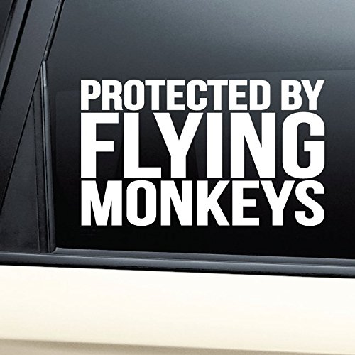 Nashville Decals Protected by Flying Monkeys Vinyl Decal Laptop Car Truck Bumper Window Sticker